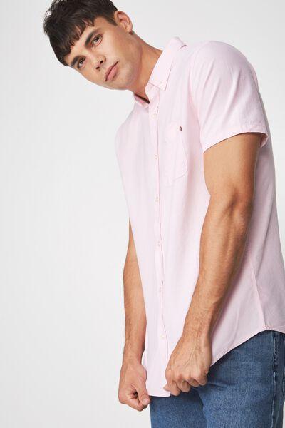 Vintage Prep Short Sleeve Shirt, PINK OXFORD