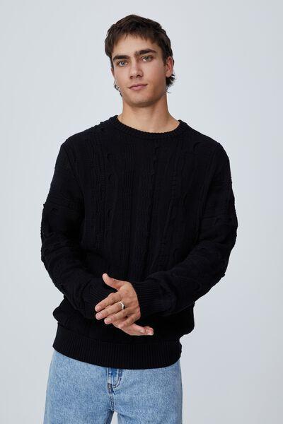 Vintage Multi Knit, BLACK