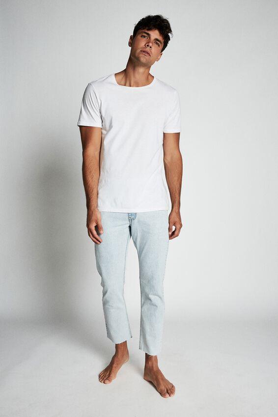 Raw Crop Jean, BLEACHED BLUE