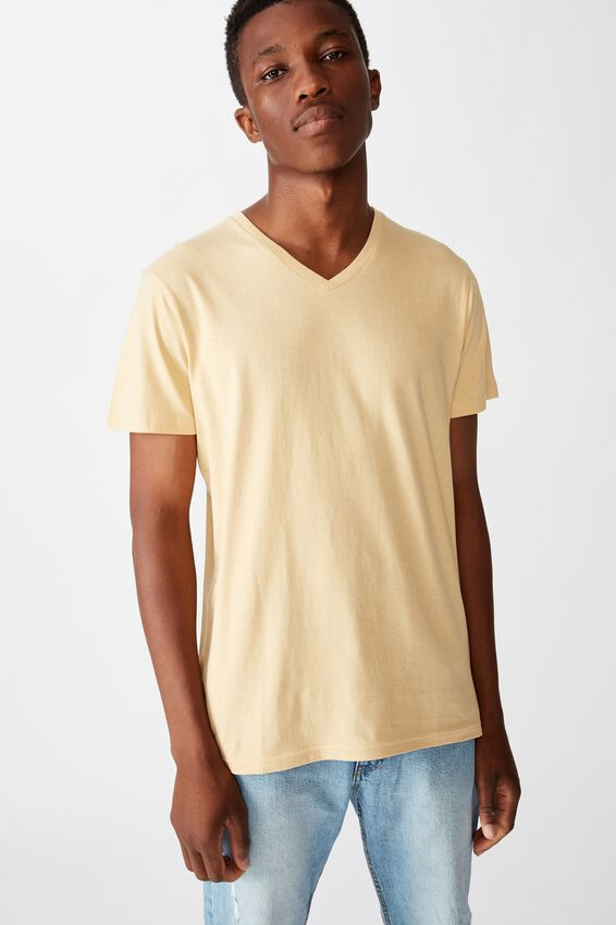 Essential Vee Neck, SUN BLEACH
