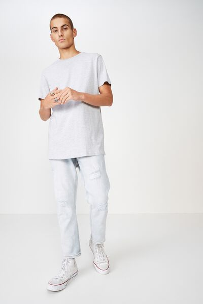Essential Longline Curved Hem, GREY MARLE