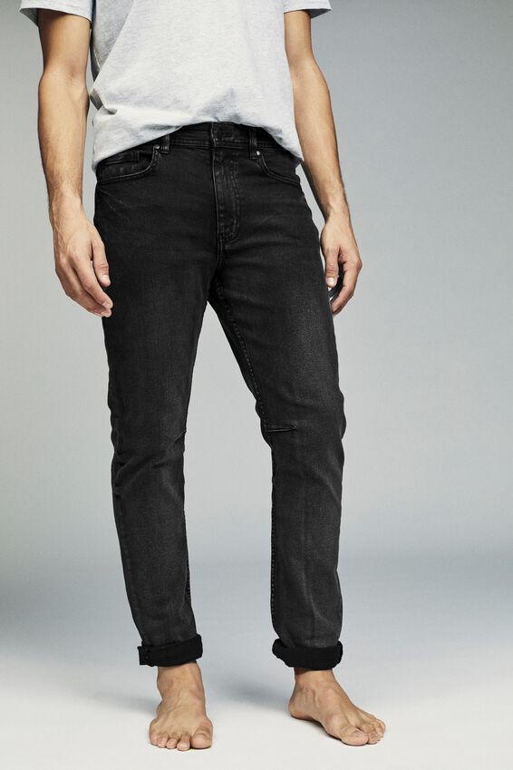 Tapered Leg Jean, WORKER BLACK
