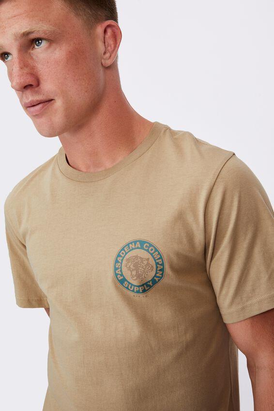 Tbar Moto T-Shirt, GRAVEL STONE/LEOPARD MFG CO