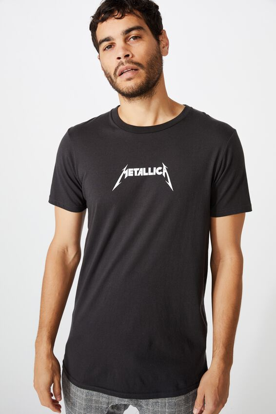 Scooped Lounge Tee, LCN PRO WASHED BLACK/METALLICA