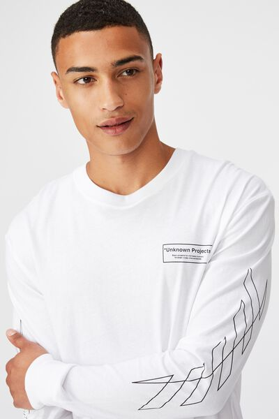 Tbar Long Sleeve, WHITE/BASIC PROJECTS