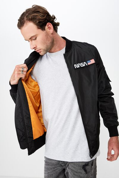 Nasa Bomber Jacket, BLACK