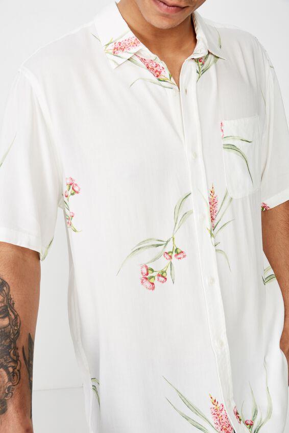 Short Sleeve Resort Shirt, VINTAGE WHITE FLORAL