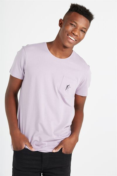 Icon Tee, HAPPY LAVENDER/BOLT