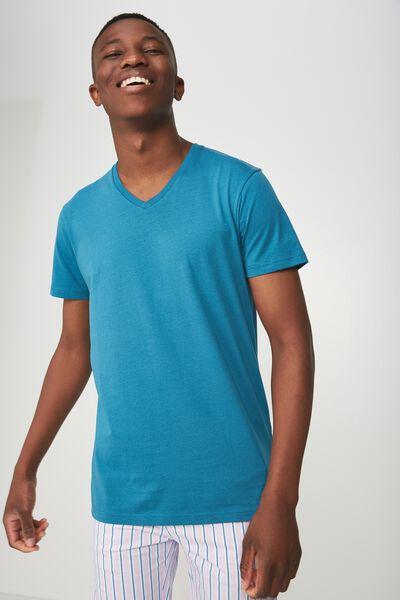 Essential Vee Neck, METHYL BLUE