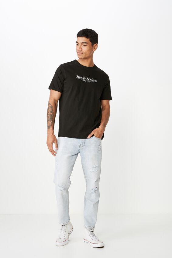 Tbar Text T-Shirt, BLACK/SUNDAY SESSIONS