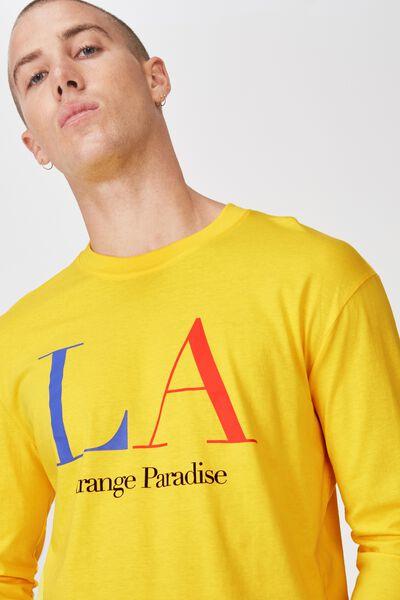 Tbar Long Sleeve, VIBRANT YELLOW/LA STRANGE PARADISE