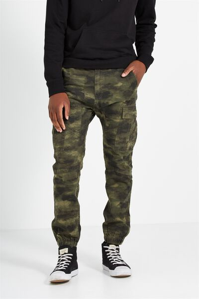 Customised Drake Cuffed Pant, MOTTLED CAMO #22