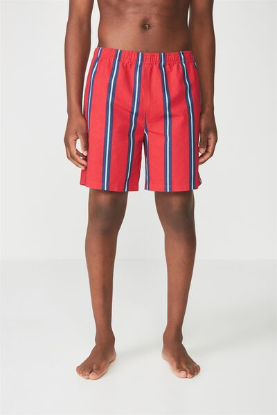 Crossover Short, RED/VERT STRIPE