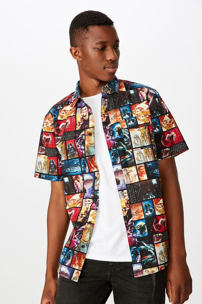 Collaboration Short Sleeve Shirt, STARWARS POSTER