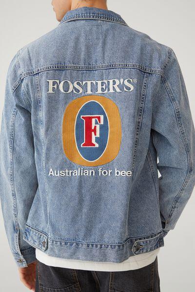 Fosters Denim Jacket, LCN CUB BECKLEY BLUE