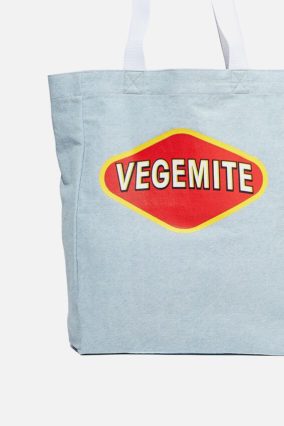 Special Edition Shoulder Tote, LCN VEGEMITE/BLUE DENIM