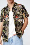 Fosters Short Sleeve Shirt, LCN CUB WASHED BLACK