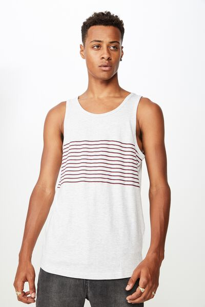 Tbar Anchor Tank, WHITE MARLE/INK NAVY/RACE RED STRIPE