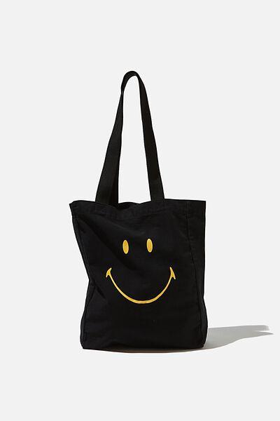Special Edition Shoulder Tote, LCN SMI SMILEY ICON/BLACK