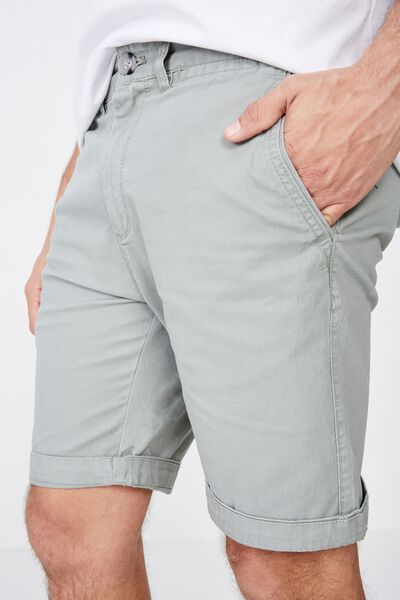 Washed Chino Short, PIGMENT KHAKI