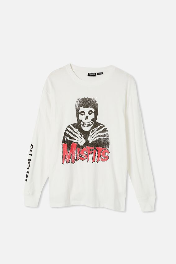 Tbar Collab Ls Tee, LCN LN VINTAGE WHITE/MISFITS - CROSSED HANDS