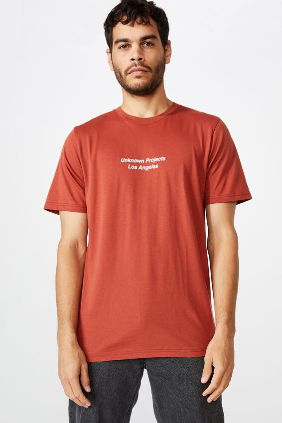 Tbar Street T-Shirt, BRUSCHETTA RED/UNKNOWN PROJECTS LA