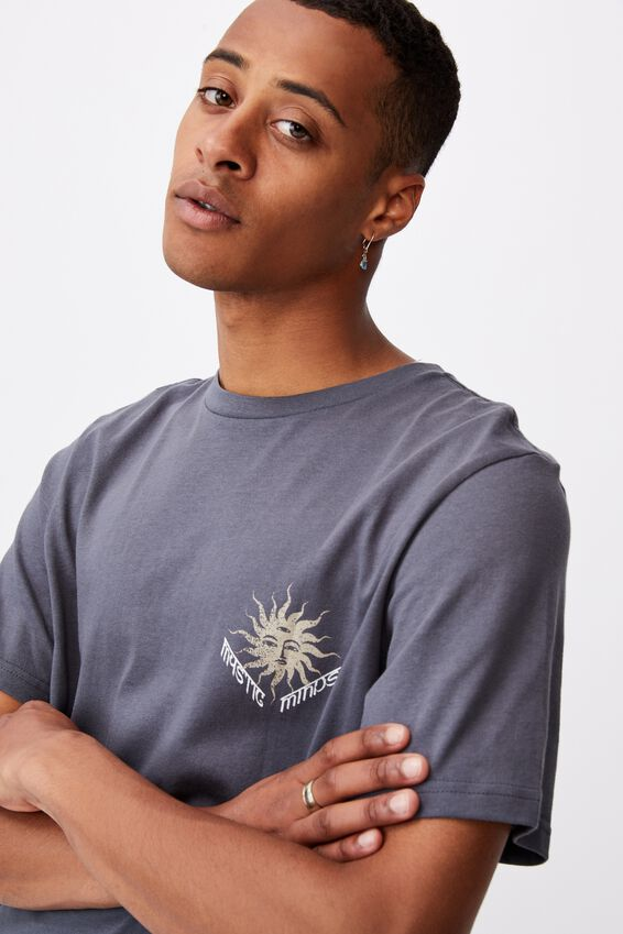 Tbar Art T-Shirt, LATE NIGHT BLUE/MYSTIC MINDS