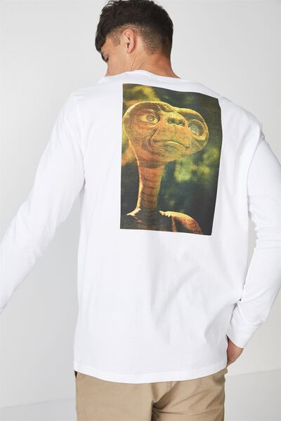 Tbar Collaboration Ls Tee, LC WHITE/ET EXTRA TERRESTRIAL