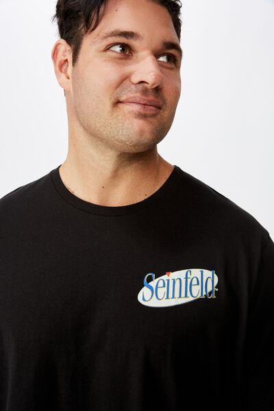 Tbar Collab Tee, LCN WB BLACK/SEINFELD - LOGO EVOLUTION