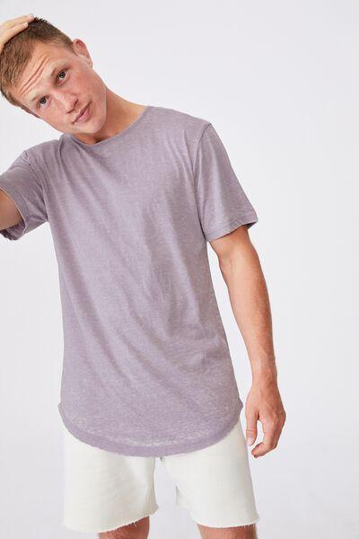 Longline Scoop Burnout T-Shirt, CADET PURPLE