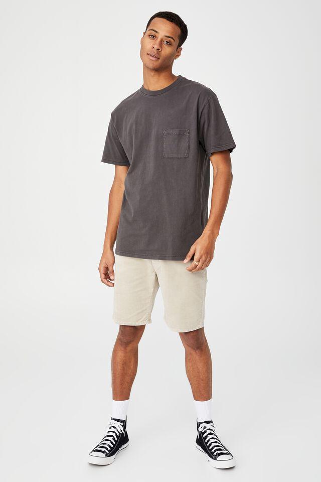 Loose Fit T-Shirt, WASHED BLACK