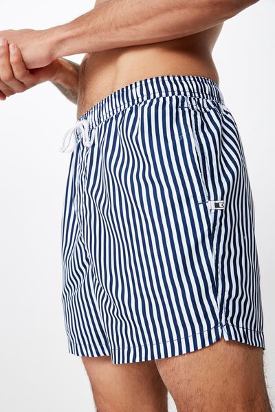 Swim Short, NAVY / WHITE STRIPE