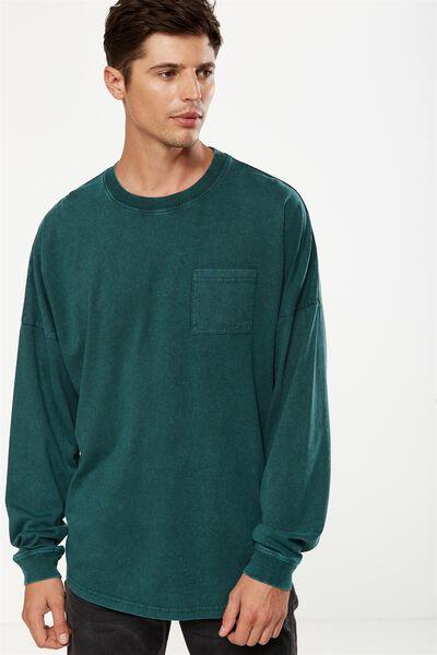 Drop Shoulder Long Sleeve, PINENEEDLE GREEN ACID