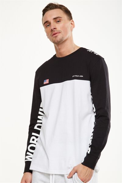 Tbar Long Sleeve, WHITE/BLACK/VISION WORLDWIDE