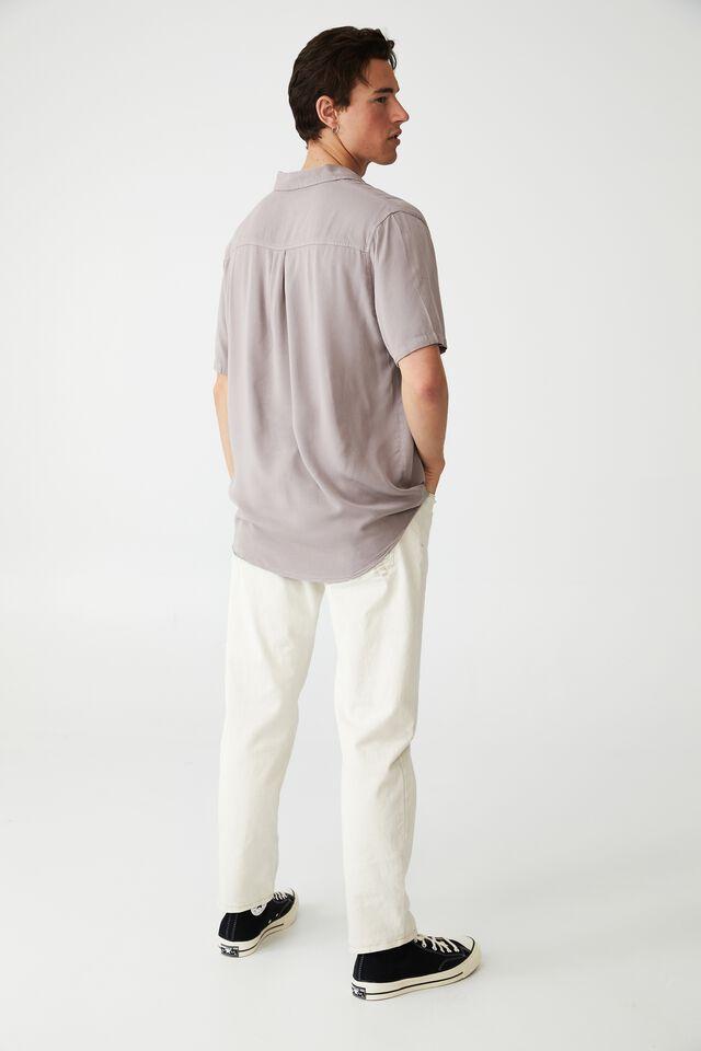 Cuban Short Sleeve Shirt, WASHED BRICK