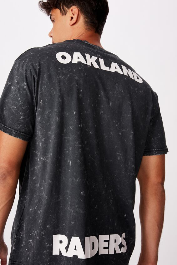 Special Edition T-Shirt, LCN NFL BLACK OAKLAND RAIDERS - SNOW WASH
