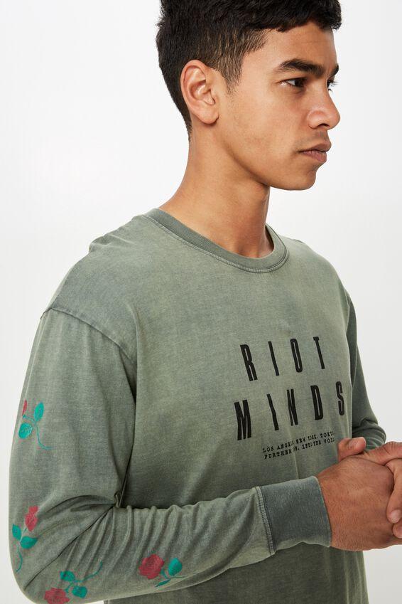Tbar Long Sleeve, BUSH GREEN/RIOT MINDS