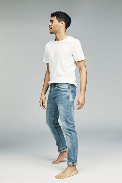 Tapered Leg Jean, MID BLUE CLASSIC