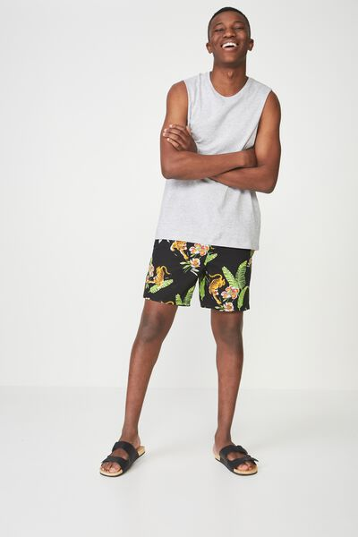 Hoff Short, BLACK TIGER FLORAL