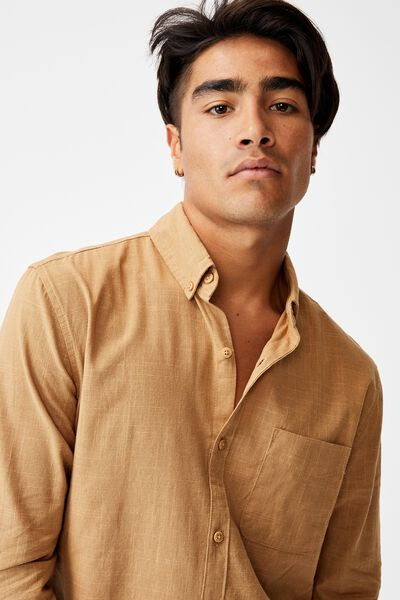 Brunswick Shirt 3, TEXTURED CAMEL