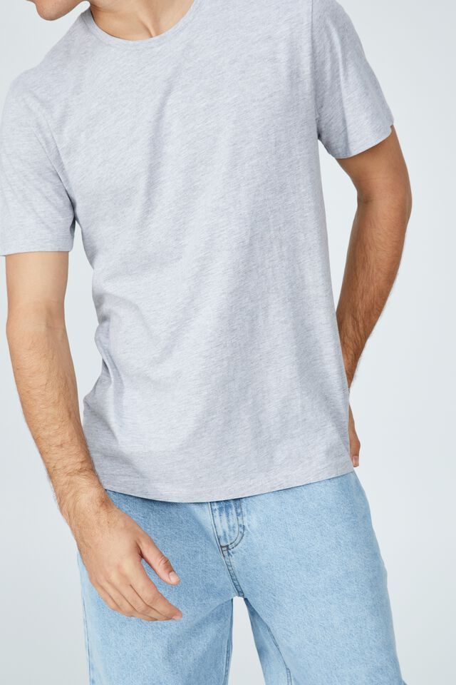 Organic Crew T-Shirt, LIGHT GREY MARLE