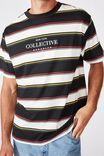 Downtown T-Shirt, BLACK MIXED STRIPE