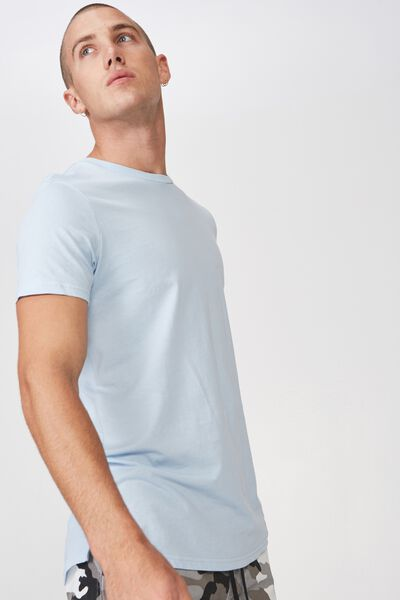 Essential Longline Curved Hem, BLUE MIST