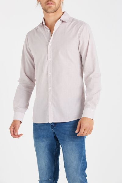 Slim Smart Shirt, RED STRIPE