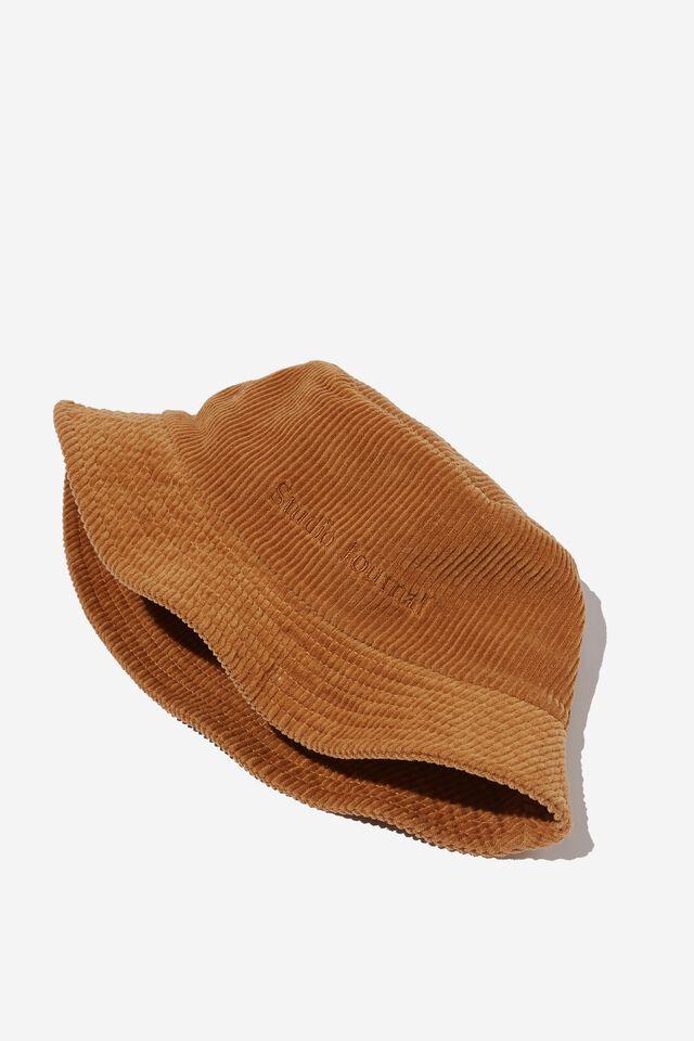 Bucket Hat, WASHED CAMEL/CORD/STUDIO JOURNAL