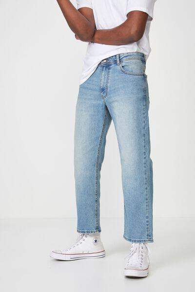 Vintage Straight Jean, MID STONE