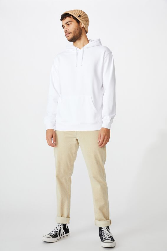 Essential Fleece Pullover, WHITE