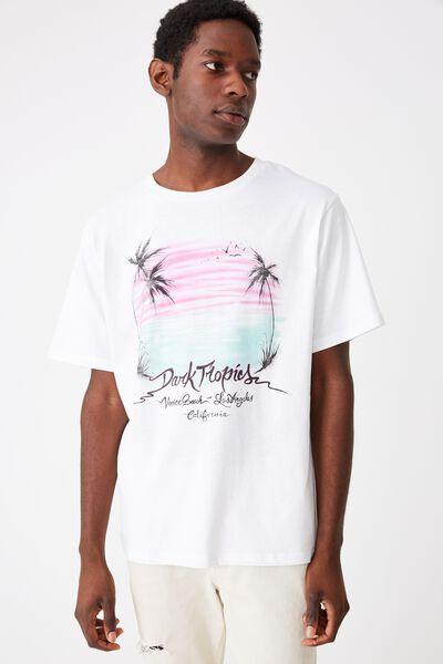 Tbar Art T-Shirt, SK8 WHITE/DARK TROPICS AIRBRUSH