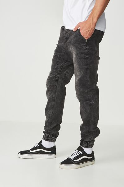 Slim Denim Jogger, WASHED BLACK