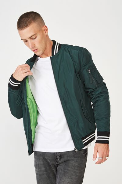 Airforce Bomber Jacket, BOTTLE GREEN